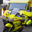 Ambulance motorcycle — Stock Photo