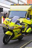 Ambulance motorcycle — Stock Photo
