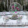 Snow fountain — Stock Photo