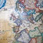 Vintage världen karta — Stockfoto