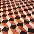 Floor cube tiles — Stock Photo