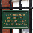 No bicycle railing sign — Stock Photo #34699833
