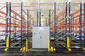 Control box warehouse — Stock Photo