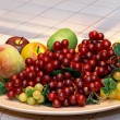 Fruits platter — Stock Photo