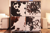 Cowhide cabinet — Stock Photo