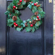 Door wreath — Stock Photo