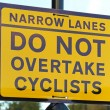 Cyclist sign — Stock Photo