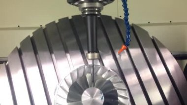 Milling turbine — Stockvideo