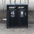 Stock Photo: Waste bins
