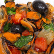 Stock Photo: Mussel salad