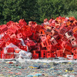 Plastic crates recycle — Stock Photo