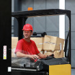 Forklift driver — Stock Photo #37758395