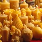 bijenwas kaarsen — Stockfoto