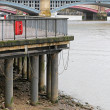 Low tide Thames — Stock Photo