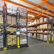 Stock Photo: Mobile shelving system