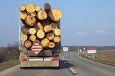 Log truck — Stock Photo