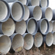 Stock Photo: Sewage pipes