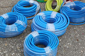 Blue hoses — Stock Photo