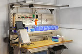 Technician workbench desk — Stock Photo