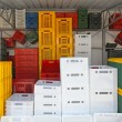 Color crates — Stock Photo