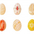 Six Easter eggs — Stock Photo #42141103