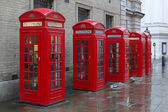 Telephone booths — Stock Photo