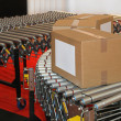 Conveyor rollers box — Stock Photo