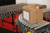 Conveyor rollers box — Stock Photo