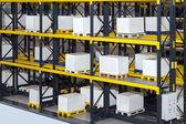 Warehouse shelving system — Stock Photo