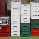 Plastic crates — Stock Photo #43096957