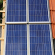 Solar power home — Stock Photo