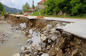 Road landslip — Stock Photo