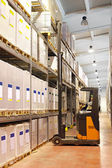 Forklift loading — Stock Photo