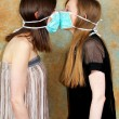 Two masks against — Stock Photo #4782768