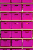Pink crates — Stock Photo