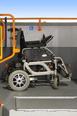 Wheelchair in bus — Stockfoto