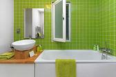 Casa de banho verde — Foto Stock