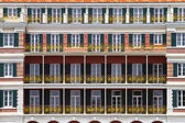Colonial balconies — Stock Photo