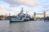 HMS Belfast — Stock Photo