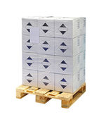 Boxes at pallet — Stock Photo