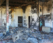 Fire damage factory — Stock Photo