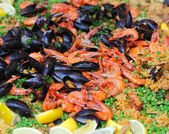 Seafood paella — Stock Photo