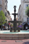 Cannes fountain — Stock Photo