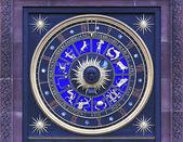 Zegar znak zodiaku — Zdjęcie stockowe