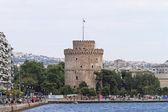 Thessalonikis vita torn — Stockfoto