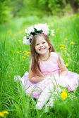 Cute little girl outdoors — Stock Photo