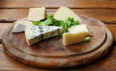 Cheese Rustic Setting — Stock Photo