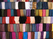 Colorful Cloth Samples in Lebanese Souk — Stock Photo
