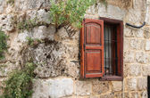 Rustic Wall and Window — Stock Photo