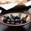 Lebanese Breakfast, Black Olives — Stock Photo